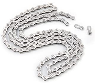 ZHIQIU FSC 10 Speed 116 Links Bicycle Chain, Silver,Gold (1/2x11/128-Inch) Compatible with 9 Speed