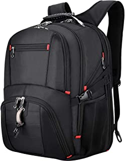 VBIGER Extra Large Backpack, Travel Laptop Backpack 17.3 Inch TSA Friendly Durable Large Laptop Backpacks Business College School Backpack with USB Charging Port, Water-Repellent, Antl Theft-Black