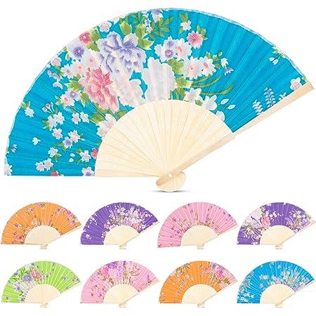 60pcs Handheld Paper Fan Tissue Fan Circular Decorative Church Fans for Wedding