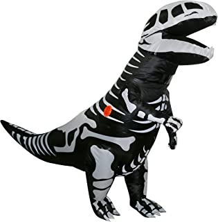 Inflatable Dinosaur Costume Fancy Giant Skeleton Stegosaurus T-Rex Cosplay Suit for Adult Kids