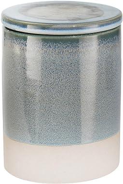 Sagebrook Home, Blue Ceramic Covered JAR, 4.75x4.75x6.25