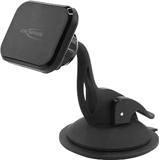 ANSMANN Handyhalter fürs Auto mit Magnet   KFZ Handy Halterung für Windschutzscheibe   KFZ Handyhalterung Auto Saugnapf   universal Magnethalter ideal als Auto Zubehör für Smartphone & Navi