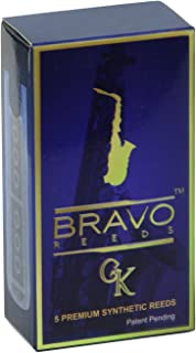 Bravo Synthetic Reeds for Alto Saxophone - Strength 2.5, Model BR-AS25