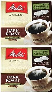 Melitta Dark Roast Soft Pod Pack 18 Count (Pack of 2)