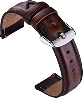 Vikoros Leather Watch Band Quick Release Wrist Straps Accessories 18mm 20mm 22mm Replacement for Samsung Galaxy Watch 3 46...