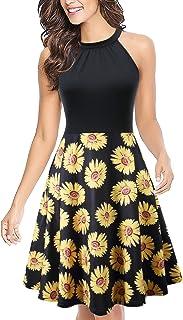 Halter Neck Summer Dresses for Women Casual Floral Print...