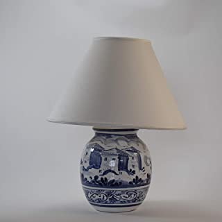 Piccola lampada Potiche, foggiata e dipinta a mano