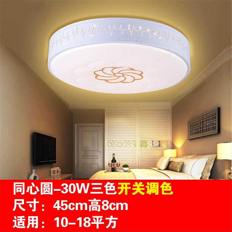 Chambre à coucher salle de séjour lampe de plafond concentrique cercle de gradation 30W 45 cm