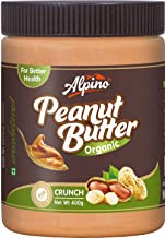 Alpino Organic Natural Peanut Butter Crunch 400 G (Gluten Free / Non-GMO / Vegan)