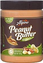Alpino Organic Natural Peanut Butter Butter Crunch 400g (Unsweetened / Gluten Free / Non-GMO)