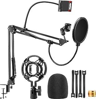 Microphone Arm Stand Desk Set, LILALIWA Adjustable...