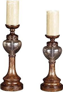 Kensington Hill Set of 2 Bronze Mercury Glass Candle Holders