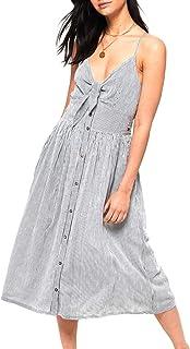 Superdry Jayde Tie Front Midi Dress Robe Femme
