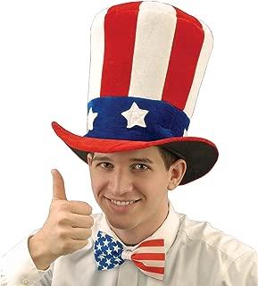 Forum Novelties Men's Uncle Sam Velvet Adult Top Hat