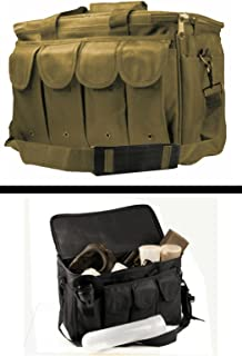 Ultimate Arms Gear New Generation Tan Equipment Shooting Range Pistol Handgun Gun Rifle 8 Magazine Mag Pouch Holder Hunting Law Enforcement Security Gear Carry Travel Pack Bag
