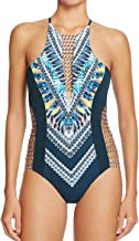 Red Carter One Piece Swimsuit Shangri La Cut-Out Strappy Side Sexy Halter Maillot XS