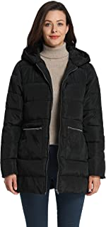 Women's Down Quilted Padded Thicken Puffer Coat with Hood
