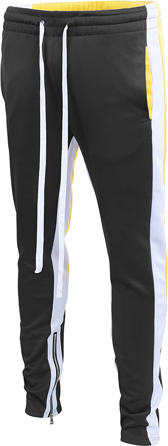 Mens Track Today's only Pants Skinny Fit Stripe Ath Purchase Multi Casual Stretch Tone