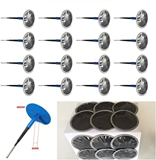 SRXTZM Car Motorcycle Truck Tire Repair Kit Tyre Puncture Repair Wired 6mm Mushroom Plug Patch - Box of 24 (46mmx6mm)