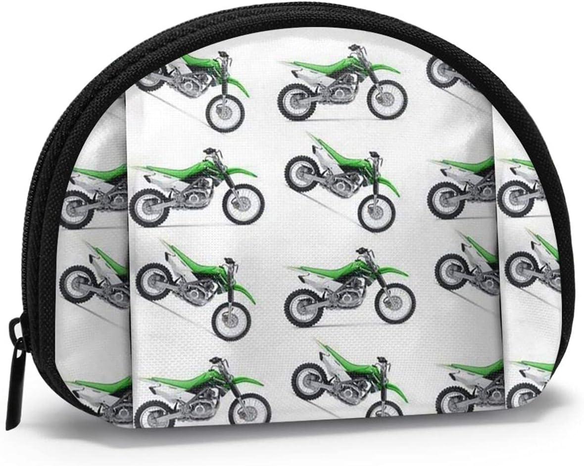 Green Dirt Bike FSERSANHW Coin Purse Small Cute Fashion Purse Pouch Mini Colorful Wallet Coin Bag Present