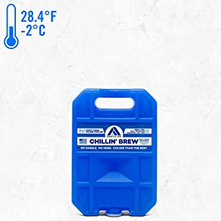 Long Lasting Ice Pack for Coolers, Lunch Boxes, Camping, Fishing and More, Small Reusable Ice Pack, Chillin' Brew Series by Arctic Ice
