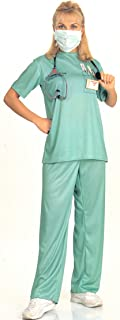 Rubie's Costume Co Adult Emergency Room Female Doctor Costume,Green,Standard