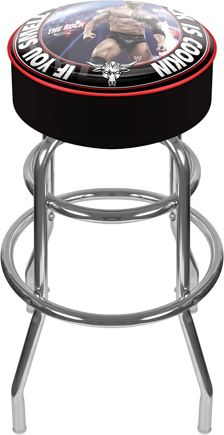 Trademark Global WWE The Rock Version-B Padded Bar Stool