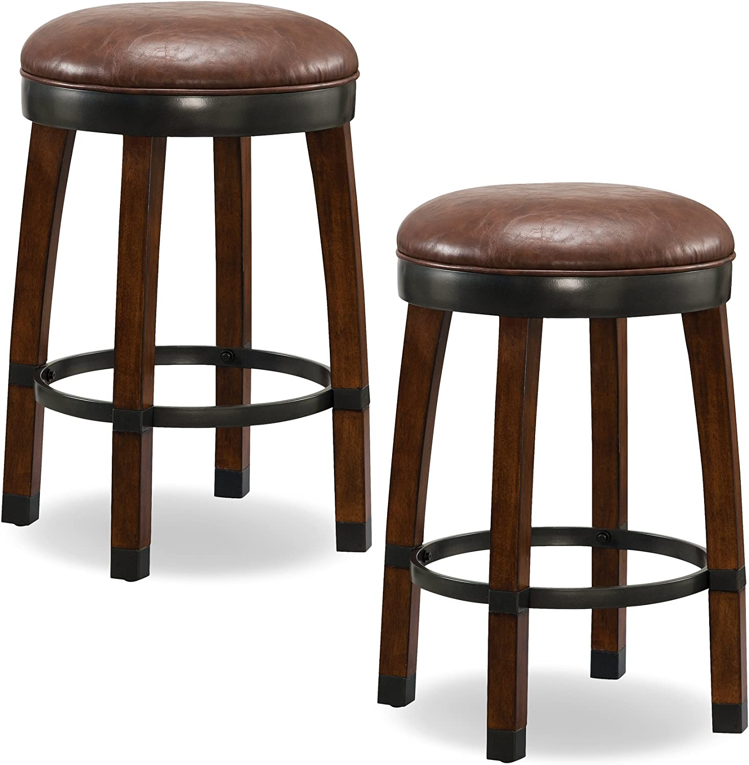 Leick Favorite Finds Seattle Mall Counter Height Bar Stool Brown Very popular of Set 2
