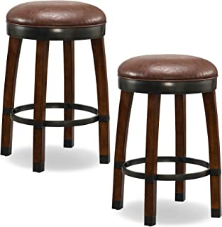 Leick Favorite Finds Counter Height Bar Stool (Set of 2), Brown