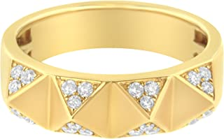 Antandre Womens 14K Yellow Gold 1/4ct TDW Diamond Cocktail Band Ring