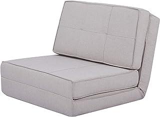AmazonBasics - Sofá cama, 74 x 80 x 61,5, gris claro