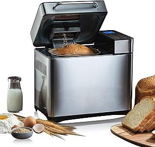 Meykey - Máquina de pan (19 programas, sin gluten, con pantalla y temporizador programable, 15 h, 710 W)