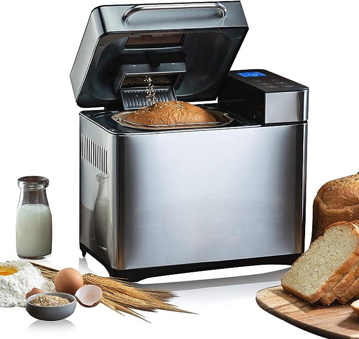 Macchina per il pane con 19 programmi per 500 g - 1000 g di peso del pane 710 w meykey B08MTKWDSB