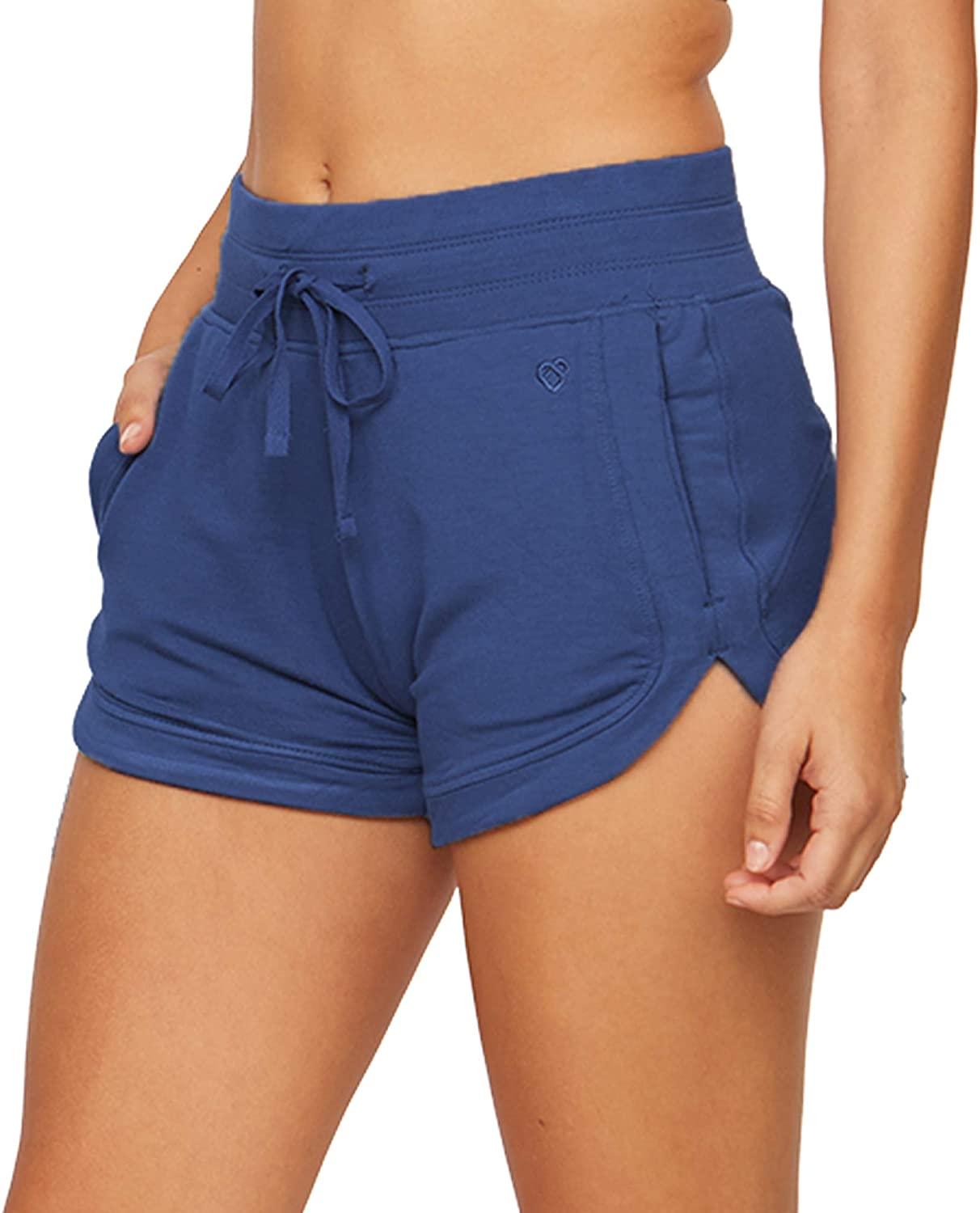 Colosseum Active Women's Four Way Stretch Micro French Terry Dolphin Lounge Short with Pockets