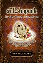STEAMPUNK TEA LEAF FORTUNE TELLING CARDS (45 bronze gilt-edged cards w/guidebook, boxed)