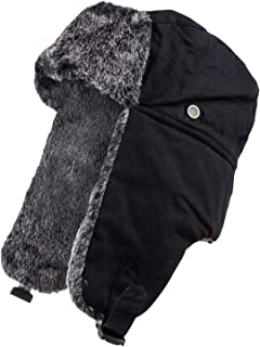 Big and Tall Men's Classic Trapper Hat w/Faux Fur Ear Flaps & Forehead, Stay Warm