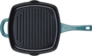 Ayesha Curry Cast Iron Square Grill Pan Pour Spouts 10