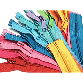 10-25 pc Long Pull Nylon Zippers Handbag Purse Zippers 12,14,16,18,24 inch
