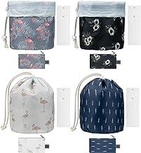 Hedume 4 Pack Travel Makeup Bag Portable, Barrel Foldable Waterproof Cosmetic Organizer, Multifunctional Toiletry Bucket B...