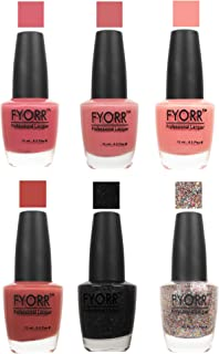 FYORR The Nude To Glitter Collection Nail Polish - Set of 6 (15 Ml Each)
