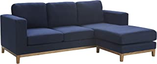 Finch Berkshire Sectional, Navy Two-Tone