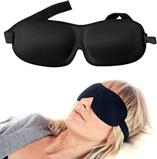 Luxury Patented Sleep Mask, Nidra® Deep Rest Eye Mask with Contoured Shape and Adjustable Head Strap, Perfect for Side Sleeper, Light Blocking, Sleep Deeply Anywhere, Anytime, Wake Up Refreshed