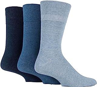 sockshop Gentle Grip, 6 pares de calcetines para hombre, de agarre suave, no elásticos, talla 39-45