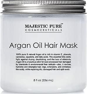 Argan Hair Mask by Majestic Pure, Natural Hair Care Product, Hydrating & Restorative Hair Repair Mask - 8 fl Oz