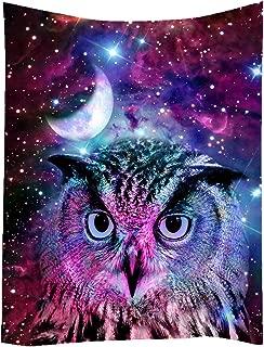 SXCHEN Hippie Tapestry Art Wall Hangings Tapestries Owl Moon Galaxy Star Animal 60