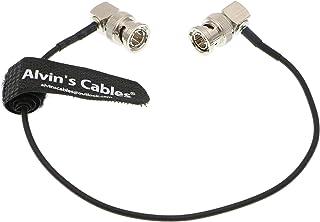 Alvin's Cables Blackmagic RG179 Coax BNC Stecker auf Stecker HD SDI Kabel für BMCC Videokamera Flexible rechtwinklig nach rechts 30CM