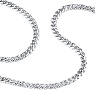 HAMANY Men Necklace 6.5mm 316L Stainless Steel Twist Link Chain 18-30 with a Velvet Bag