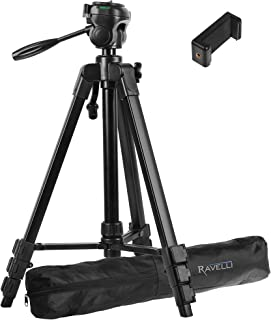 Ravelli Lightweight Aluminum Tripod, Includes Carry Bag and Universal Smartphone Mount (61
