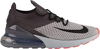 Air Max 270 Flyknit - Men's Atmosphere Grey/Hyper Punch/Thunder Grey Nylon Training Shoes 12 D(M) US