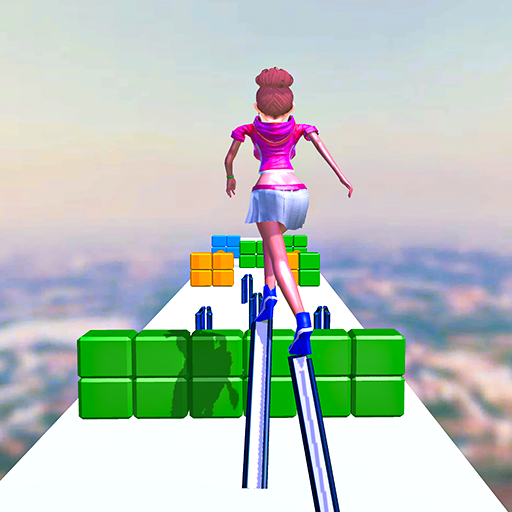 Perfect Stack Shiny Heels Game! Stylish Girl Walking High - Cool Games for Girls
